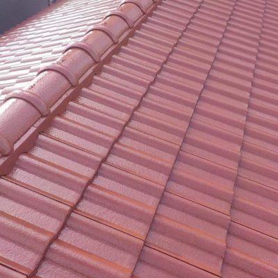 塗装後の屋根全体