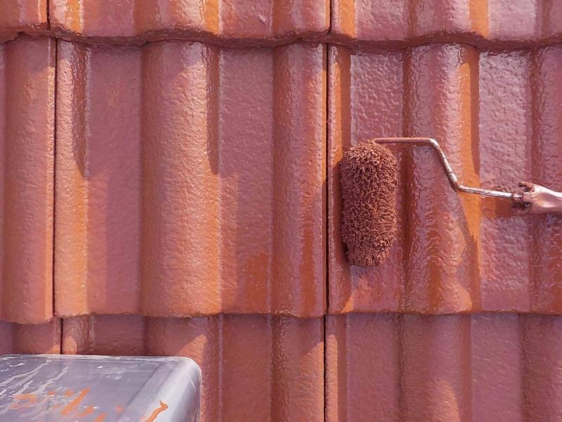 【屋根塗装】屋根の上塗り