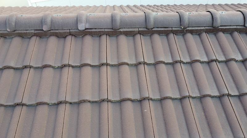 屋根塗装前のモニエル瓦