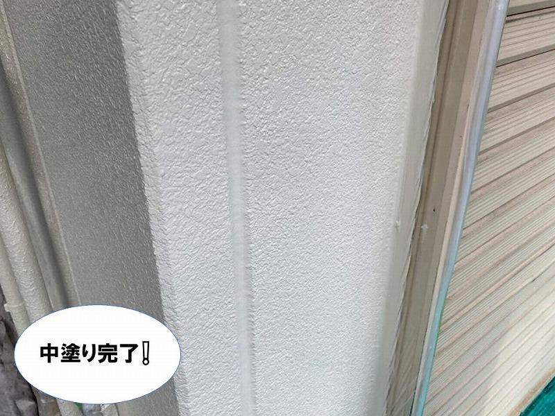 外壁中塗りの完了