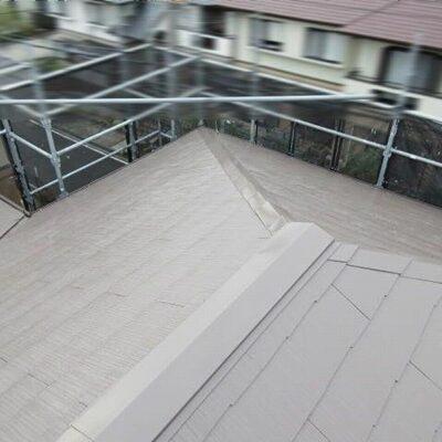 屋根塗装工事後の全体