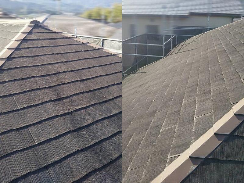 屋根塗装工事前の全体
