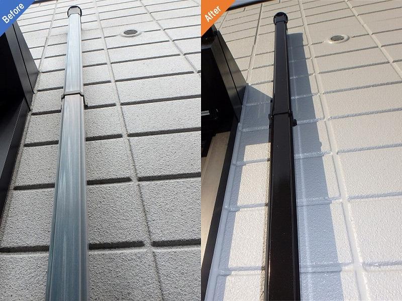 【外壁塗り替え前後比較】雨樋の様子