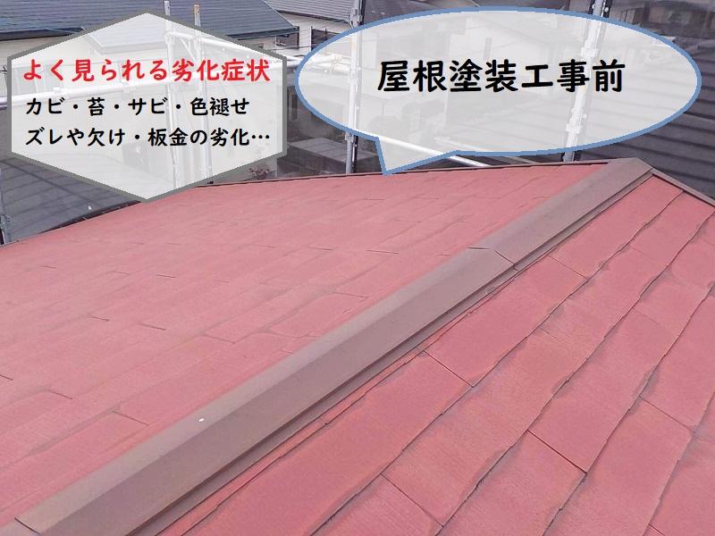 屋根塗装工事前の劣化症状