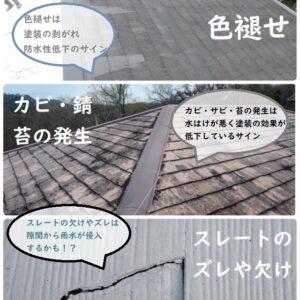 よくある屋根の劣化症状