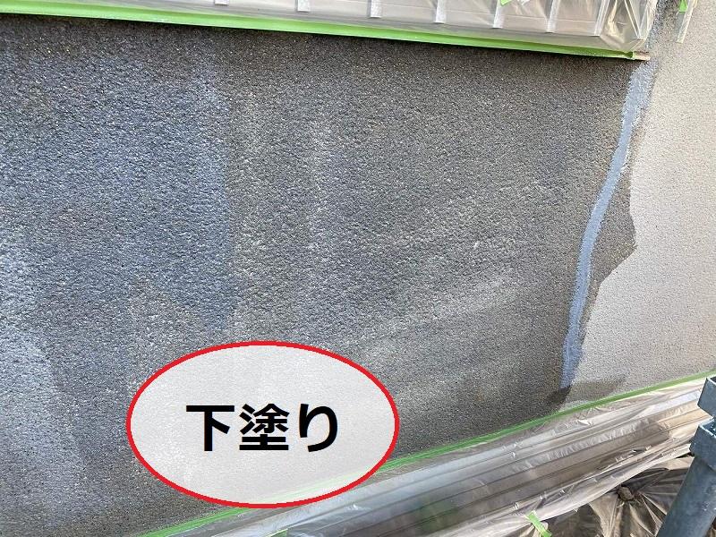 松原市外壁防水工事下塗り2