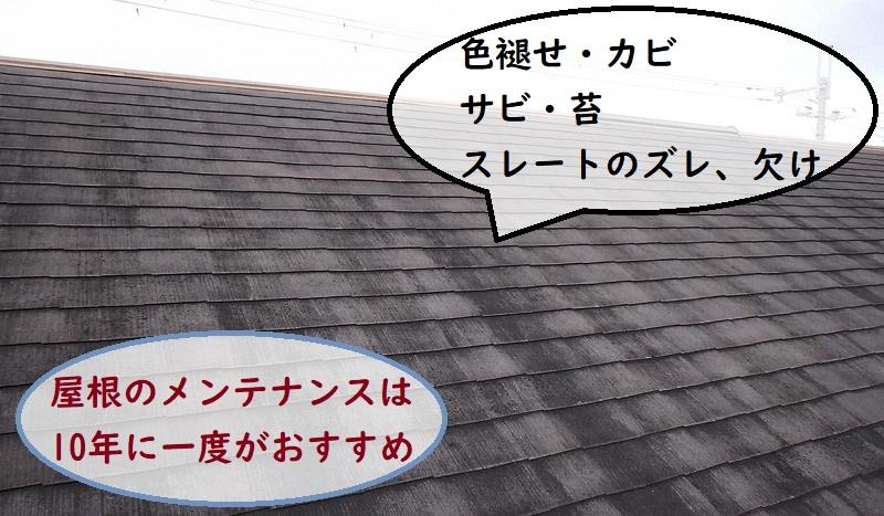 屋根塗装前 劣化症状
