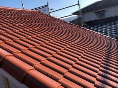 セメント瓦の屋根塗装完成