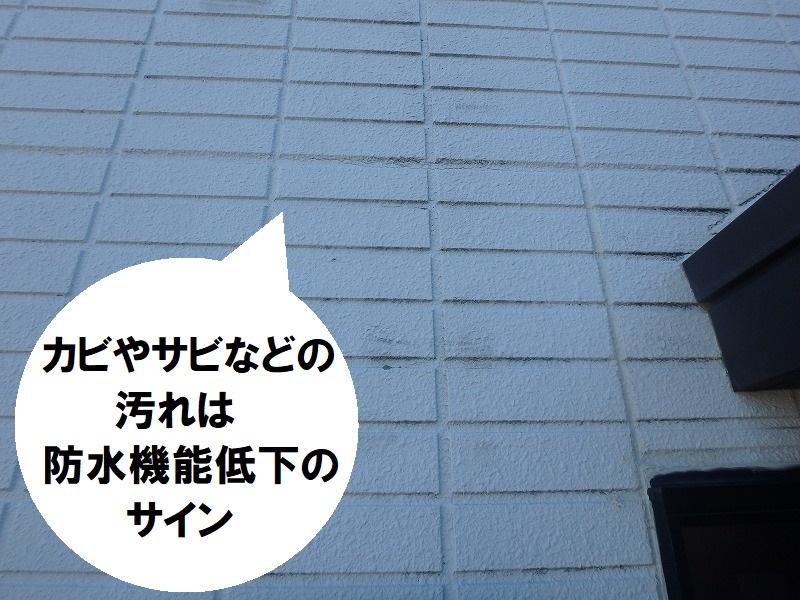 藤井寺市 ALC外壁塗装 カビやサビの汚れ