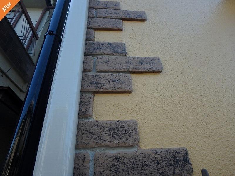 【外壁塗装後】補修されて雨漏りが改善した外壁