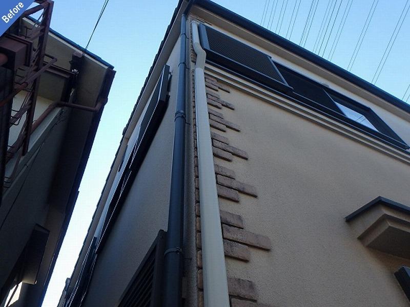 【外壁塗装前】タイル面のひび割れ