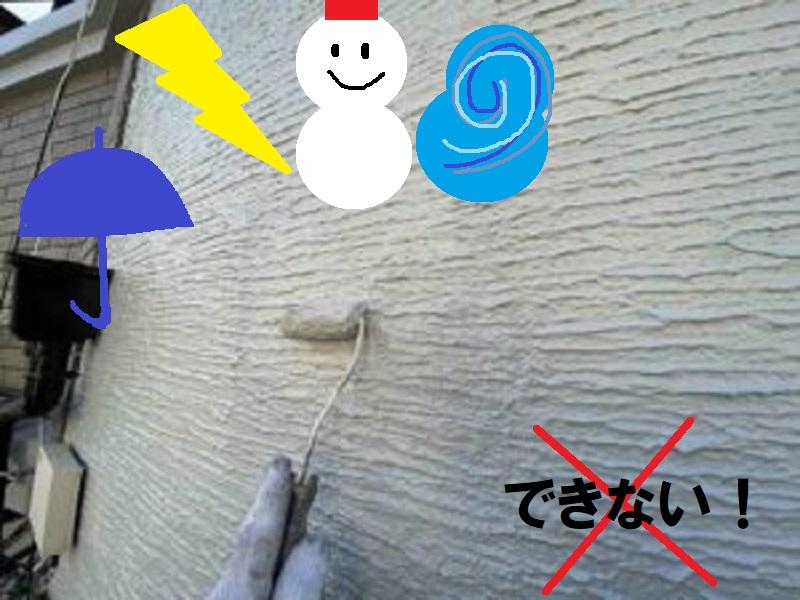 外壁塗装できない天気