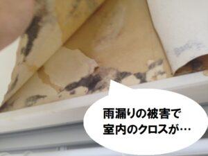 外壁の雨漏り 室内雨漏りの様子