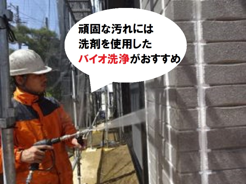 外壁塗装 カビ バイオ洗浄