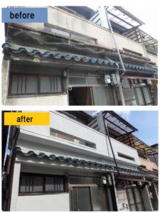 堺市 カビを外壁塗装でメンテナンスビフォーアフター