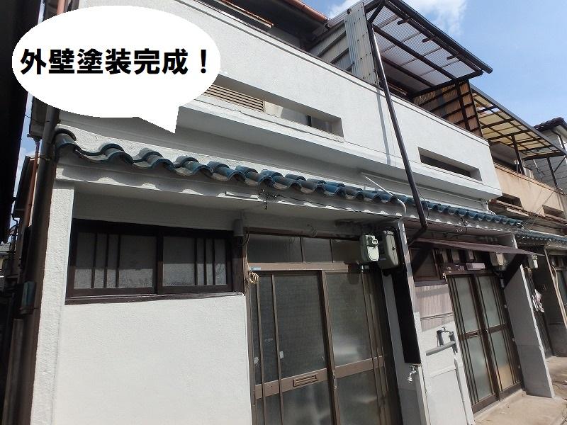 堺市 カビでお困りのお宅に外壁塗装完成
