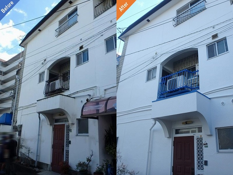 外壁塗装前後の比較