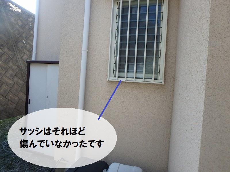 堺市のサッシ塗装前の劣化の様子