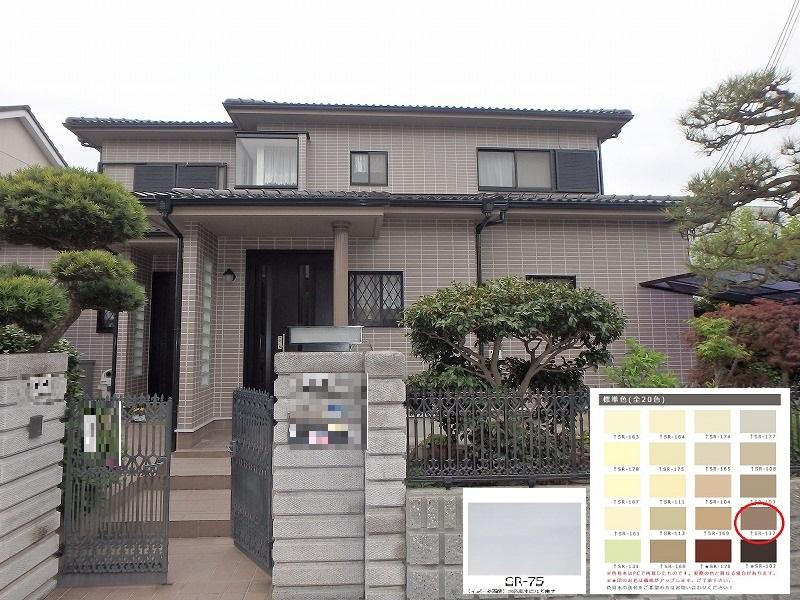 藤井寺市二色分け外壁塗装完成